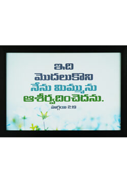 From This Day On I Will Bless You. Haggai 2.19 (Telugu)