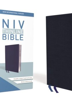 NIV Thinline Bible (bonded leather – navy blue)